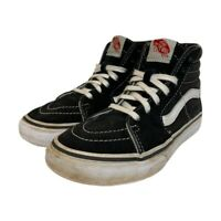 Vans Boys Old Skool Skateboard Shoes Black White 721454 High Top Sneakers 2.5