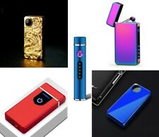 Electronic USB Recharge Cigarette Smoking Double Plasma Arc Lighter Windproof