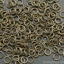 Silver Gold Plated Coppe Open Split Jump Rings Connectors Jewelry Findings Pick