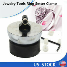 Jewelry Ring Setter Clamp Tools Ring Engraving Ball Diamond Stone Set w/ 7 mould