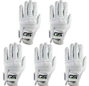 GS Golf Glove 100% PREMIUM New Men's Cabretta Leather! 5-Pack!