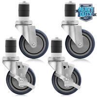 "4"" Caster Wheel Set Kit for Commercial Stainless Kitchen Prep Work Tables"