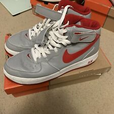 free shipping 33094 52917 VIntage Nike Air Force 1 Mid Medium Grey Varsity Red White 2003 sz 13