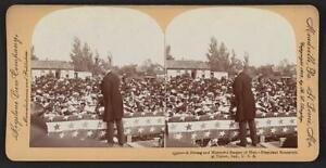 Photo of Stereograph,President Theodore Roosevelt,Tipton Island,Indiana,c1902