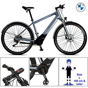 BMW Active Hybrid eBike Electric Bike Cycle Blue Metallic Rider Large 185cm Plus