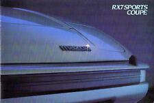Mazda RX-7 1983-84 UK Market Sales Brochure