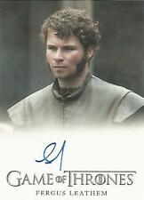 "Game of Thrones Season 6 - Fergus Leatham ""Young Rodrik Cassel"" Autograph Card"