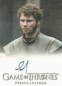 "Game of Thrones Season 6 - Fergus Leatham ""Young Rodrik Cassel"" Autograph Card"