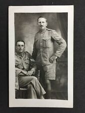 Vintage Postcard: Military RP #M242: Royal Engineers: Corporal & Sergeant Named