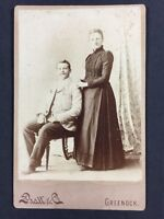 Victorian Cabinet Card Photo: Couple: Pratt & Co: Greenock