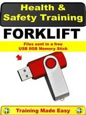 UK Forklift Lift Truck Pallet Health & Safety Student Training 8GB Memory Stick