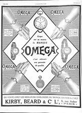 Publicité Montres Omega Vêtements Hommes HJ Nicoll & Cie Paris ILLUSTRATION 1912