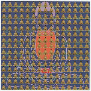 BUDDHA BLUE HIGH QUALITY BLOTTER ART BY KEVIN BARRON -  MARK MCCLOUD HOFMANN