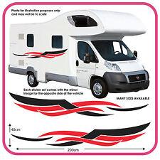 Camping-car Vinyle Graphiques Autocollants Van Aménagé RV Caravane Caravane mh4d