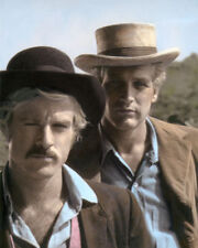 "ROBERT REDFORD PAUL NEWMAN BUTCH & SUNDANCE ACTORS 8x10"" HAND COLOR TINTED PHOTO"