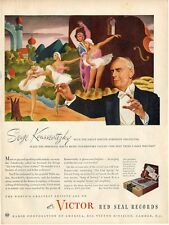 1945 Victor Print Ad Records Serge Koussevitzky Conducts Tchaikovsky ballet