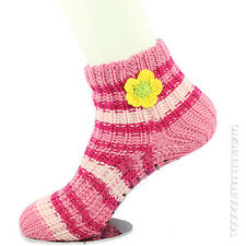 Socks 9-11 Knit No Slip Rubber Slipper Anklet Warm Thick Winter Comfy Women's