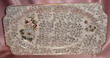 Estate Collectable ~ Old Wood & Sons Rose Oblong Dish ~ Vintage England