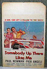 SOMEBODY UP THERE LIKES ME original 1956 movie poster PAUL NEWMAN/PIER ANGELI