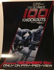 "UFC ULTIMATE CHUCK LIDDELL 100 KNOCKOUTS MINI SIZE POSTER 8.5""X 11"""