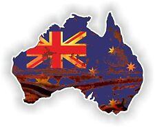 Australia Mapa Bandera pegatina vieja mirada Retro oxidados Vintage Para Tanque De Gas Guitarra Pc