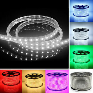 LED Strip Light  5M 10M 20M 30M 5050 220V 60leds/m Flexible tape rope Waterproof