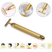 24k Gold Beauty Bar Facial Roller Skincare Massager Derma Device