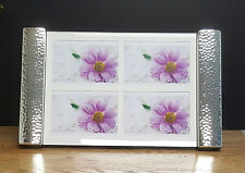 Modern Silver Wall & Table Collage Photo Frame. Holds Four 13x18cm Photos - 4022