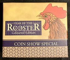2005 Perth Mint 🇦🇺Year of the Rooster 🍗 2oz Proof Colour Coin 999 Fine Silver