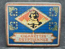 More details for vintage cigarette tin with cigarettes (cigarettes egyptiennes)