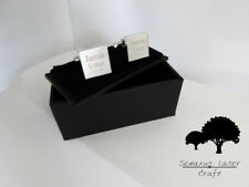 Silver Personalised Deluxe Engraved Wedding Cufflinks Cuff Links Groom scl1