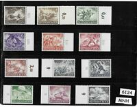 #6124   Complete MNH stamp set / Wehrmacht & other Military 1943 / Third Reich