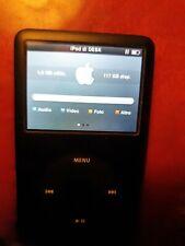 Apple iPod Classic 7th Upgrade SSD 128GB + Batteria 1800mah - Nero A1238