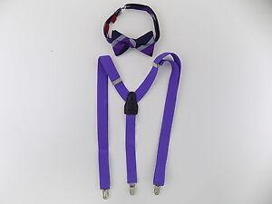 Alfani $75 MEN Purple Suspenders SZ One Size WIDTH 25mm + BOW TIE SET SALE Y16