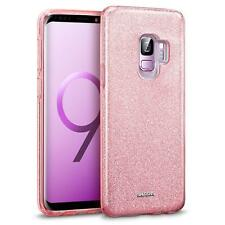 Handy Hülle für Samsung Galaxy S9 Schutz Hülle Silikon Cover Glitzer Slim Case