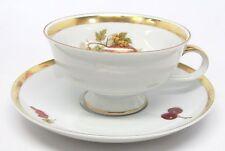 Jaeger - Harvest - Apples & Grapes Cup & Saucer - Golden Crown E&R 1886 - F