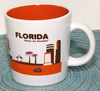 Dunkin Donuts Coffee Mug Florida runs on Dunkin Ceramic Tea Cup 14 fl oz