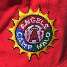 MLB Angels Baseball Camp Halo Bucket Fishing Hat Anaheim Red Los Angeles Cap