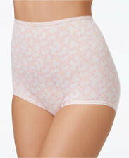 BALI Skimp Skamp Nylon/Spandex Cosmetic Dots Full Cut Brief Size 9/2XL