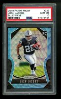 2019 Panini Prizm #323 Josh Jacobs Raiders BLUE WAVE /199 PSA 10 RC Rookie