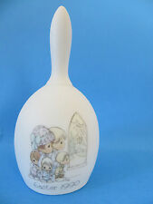 Precious Moments 1989 Family at Church Porcelain Easter Bell