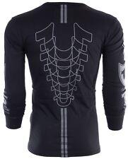 True Religion мужская с длинным рукавом футболка Мото слойка черный серый рисунок $99 джинсы новые с бирками