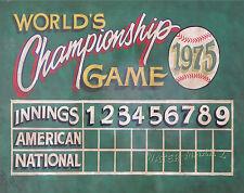 Baseball  Scoreboard  Print vintage  style  art decor sports mancave nostalgia
