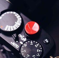 Brass Shutter Release Button For Fuji Fujifilm Leica Red