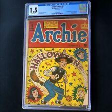 Archie Comics #5 (1943) 💥 CGC 1.5 💥 1st App Mr. Smudge! Halloween Cover Comic