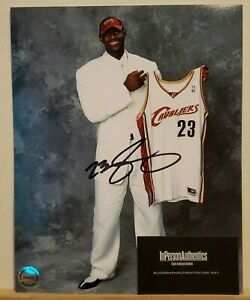 Lebron James Cleveland Cavaliers Signed Photo Certified COA