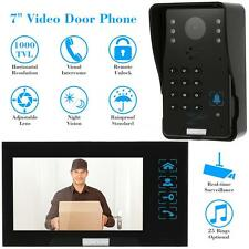 "7"" Color LCD Video Door Phone System Intercom Doorbell CCTV Camera+ Monitor Y3M7"