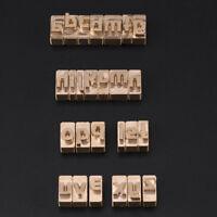 Custom Leather Alphabet & Number Stamp Interchange Stamp Craft Seal Tool DIY Set