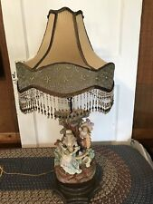 Antique Figural Bisque Table Lamp