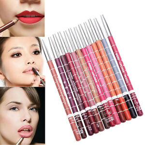 12PC Women Professional Makeup Lipstick Lipliner Waterproof Lip Liner Pencil Set